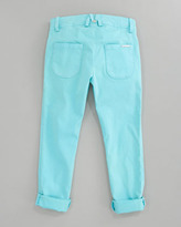Little Marc Jacobs Stretch Sateen Slim-Fit Pants, Sizes 6A-10A