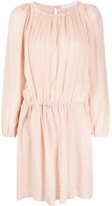 See by Chloe Gathered-Waist Mini Dress