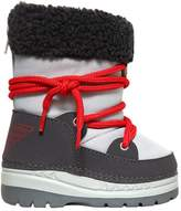 Armani Junior Nylon & Faux Shearling Snow Boots