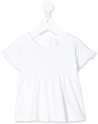 Ralph Lauren Kids pleated crew neck T-shirt