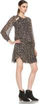 Etoile Isabel Marant Drewitt Birdy Viscose Dress in Ochre
