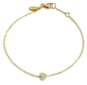 Anzie Love Letter Pave Heart Bracelet Gold