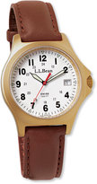 L.L. Bean Men's Classic Field Watch, Gold-Plated
