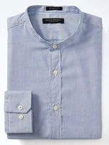 Banana Republic Grant-Fit Supima® Cotton Banded-Collar Shirt