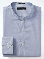 Banana Republic Grant Slim-Fit Supima® Cotton Banded-Collar Shirt