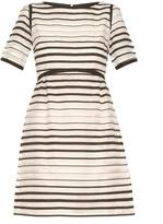 Goat Becky striped-organza dress