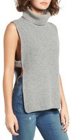 J.o.a. Women's Banded Sleeveless Turtleneck Sweater