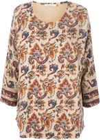 Mes Demoiselles printed three-quarter sleeve blouse