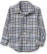 Gap Blue check flannel shirt