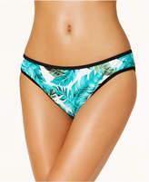 Hula Honey Juniors' Torrid Tropics Pique Palm-Print Pique Hipster Bikini Bottoms, Created for Macy's Women's Swimsuit