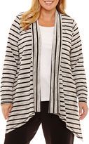 Liz Claiborne Stripe Knit Cardigan- Plus