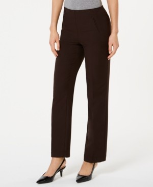 Style&Co. Style & Co Petite Tummy-Control Straight-Leg Pants, Created for Macy's