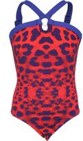 Submarine Leopard Print Halter Swimsuit