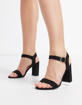 New Look block heeled sandals in black