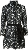 Monique Lhuillier embroidered long jacket - women - Nylon/Polyester - 4