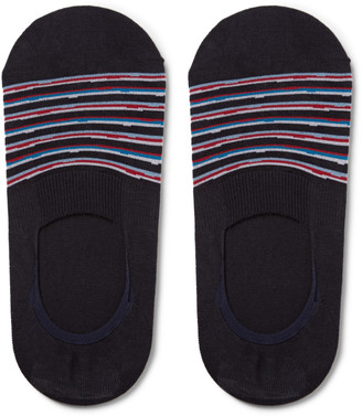 Pantherella Cayman Striped Egyptian Cotton-Blend No-Show Socks