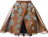 DELPOZO crinoline lace skirt