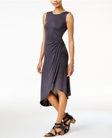 Bar III Twisted Faux-Wrap Dress, Only at Macy's