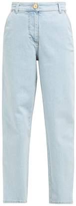 Versace High-rise Straight-leg Jeans - Womens - Denim