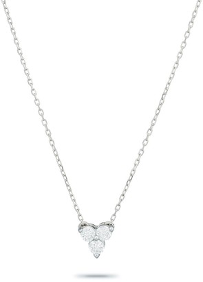 Adina Diamond Cluster Necklace in Sterling Silver