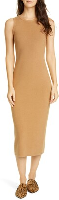 Jenni Kayne Sleeveless Cotton & Cashmere Blend Sweater Dress