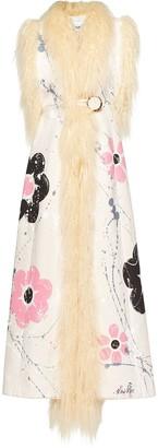 Miu Miu shearling trim sleeveless coat