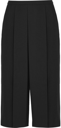 Alexander Wang Pleated Cropped Wool-twill Wide-leg Pants