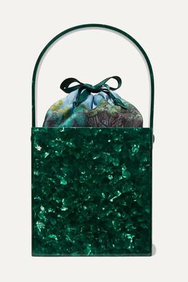 Montunas Stelis Acetate And Silk-satin Tote - Green