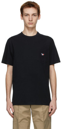 MAISON KITSUNÉ Black Tricolor Fox T-Shirt