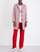 Claudie Pierlot Giant checked cotton-blend coat