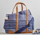 Pottery Barn Kids Navy Stripe Classic Diaper Bag