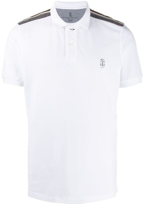 Brunello Cucinelli Logo Printed Polo Shirt