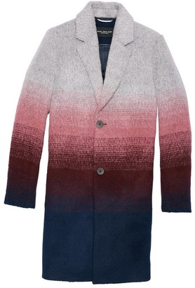 Andrew Marc Belair Ombre Wool Car Coat