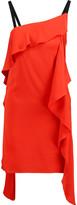Milly Maya draped silk-blend satin mini dress