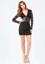Bebe Adri Lace Corset Dress