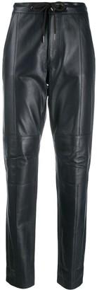 Karl Lagerfeld Paris drawstring leather trousers