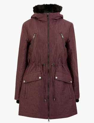 M&S CollectionMarks and Spencer Faux Fur Trim Hooded Parka