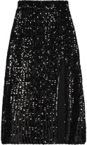 Gucci Front Slit Sequinned Skirt