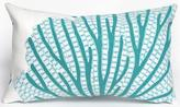 Coral Fan Lumbar Outdoor Pillow