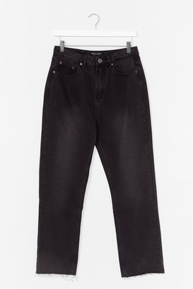 Nasty Gal Womens Tell Us What You Flare Cropped Jeans - Black - 6, Black