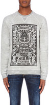 DSQUARED2 Fighters-print cotton-jersey sweatshirt