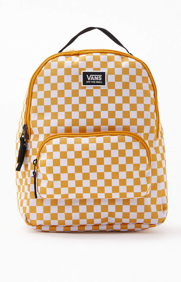 013a6041 Vans Yellow Checkered Mini Backpack
