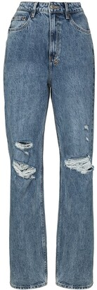 Ksubi Ripped Detail Straight-Leg Jeans