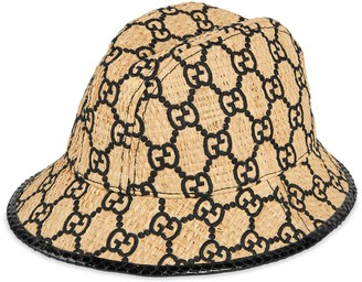 Gucci GG fedora hat with snakeskin