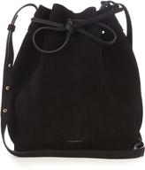 Mansur Gavriel Leather-lined suede bucket bag