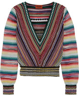 Missoni Cropped Crochet-knit Sweater - Red
