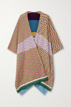 Missoni Striped Space-dyed Cashmere Wrap - Brown
