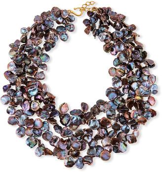Dina Mackney Multi-Strand Peacock Pearl Necklace