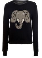 Alberta Ferretti Elephant Cotton Sweater