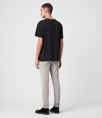 AllSaints Cigarette Skinny Jeans, Grey